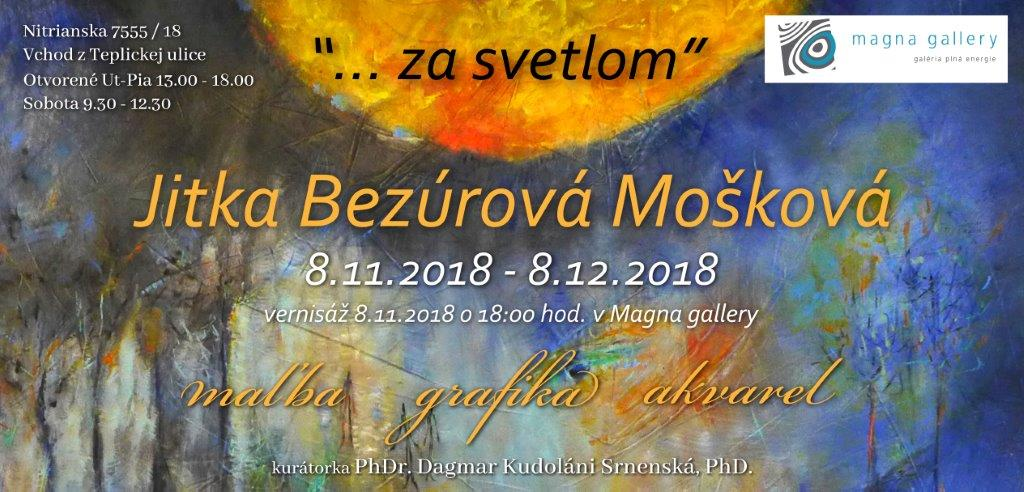 Výstava Jitky Bezúrovej Moškovej